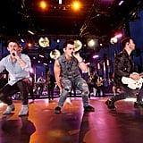 Nick Jonas, Joe Jonas, and Kevin Jonas at the 2019 MTV VMAs