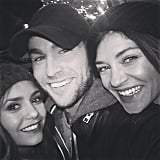 Nina Dobrev took in the Dallas Cowboys game with Chace Crawford and Jessica Szohr.