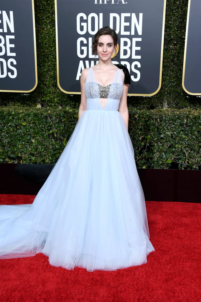 Alison Brie at the 2019 Golden Globes