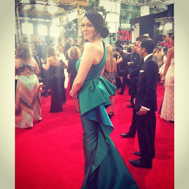 Laura Prepon shared her view of the red carpet.