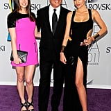Ashley Greene and Miranda Kerr both in Michael Kors, with the designer