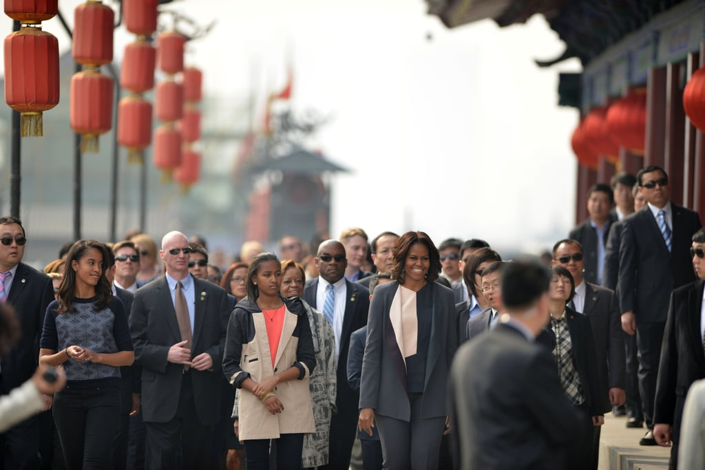 The Obamas visited Xi'an after spending a few days in Beijing.