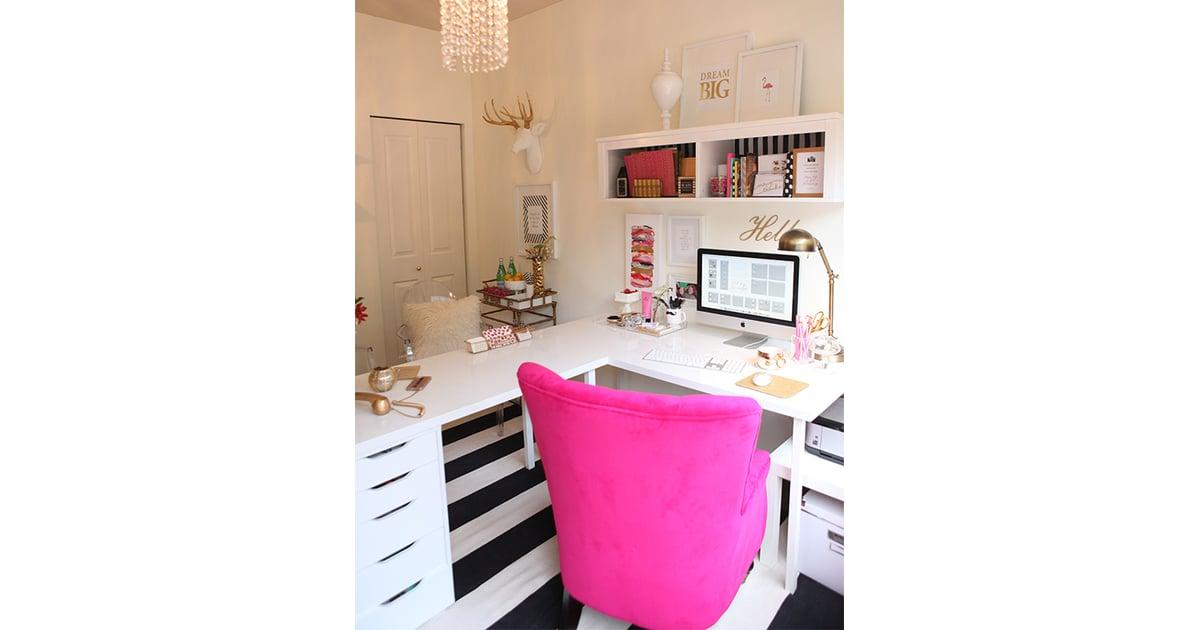 White Corner Desk Ikea Desk Hacks Popsugar Home Photo 7