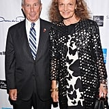 Diane von Furstenberg and Mayor Michael Bloomberg shared a photo.
