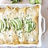 Cheesy Avocado and Corn Enchiladas