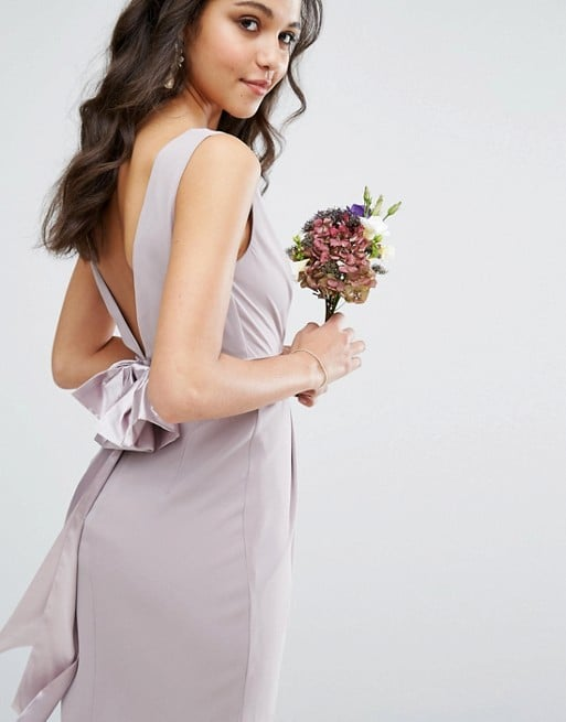 Another mini dress you can rock? This TFNC Wedding Wrap Midi Dress With Bow Back ($68).