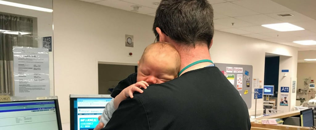 Emergency Room Doctor Soothes Baby While Mom Is Treated