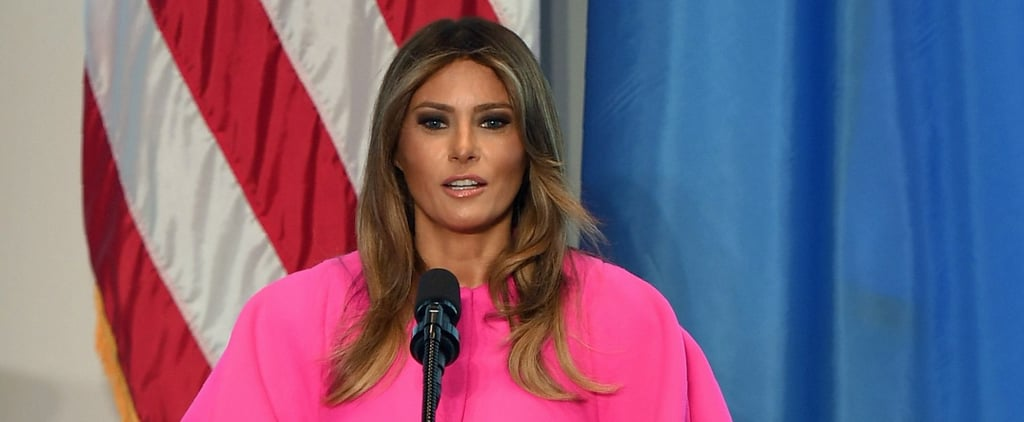 Melania Trump's Hot Pink Delpozo Dress Has Us Scratching Our Heads