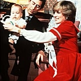 Princess Diana and Prince Charles posed with baby William during his first Christmas at Kensington Palace back in 1982.