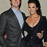 Armie Hammer and Elizabeth Chambers wrapped their arms around each other.