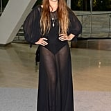 Jemima Kirke was arguably one of the most daring in a sheer black gown.