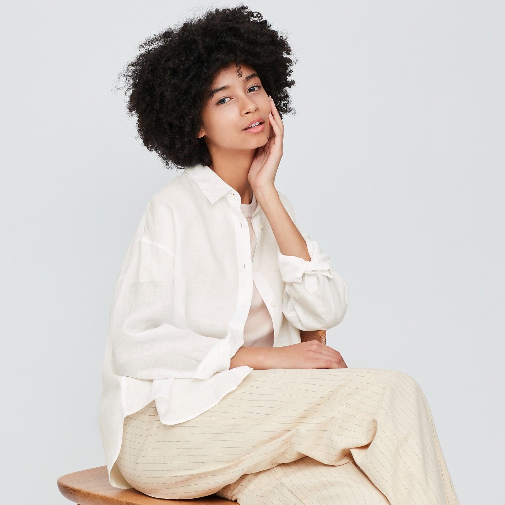 Linen summer top loose linen top linen top for women natural linen blouse Mothers Day Gift Casual linen top