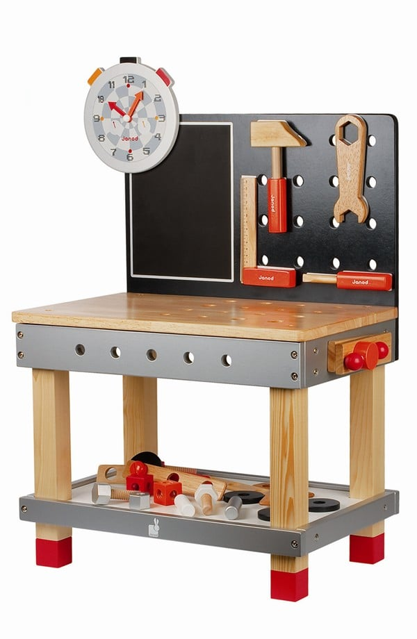For 4-Year-Olds: Janod Grow-with-Me Tool Bench