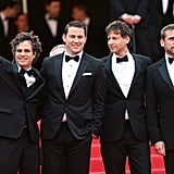 The men of Foxcatcher suited up for their big premiere at Cannes in 2014.
