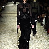 Karlie Kloss in the Tom Ford Runway Show