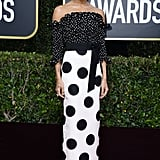Zoë Kravitz Wearing a Polka-Dot Gown at the Golden Globes