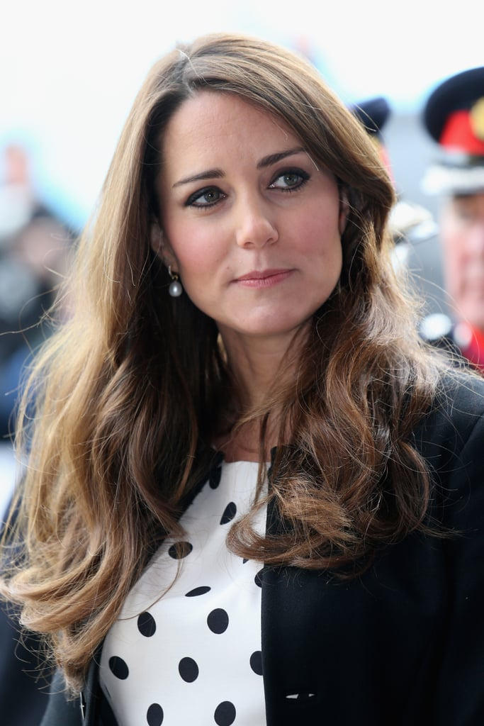 Kate attended the Inauguration of Warner Bros. Studios Leavesden in April. She wore her hair in loose waves for the occasion.