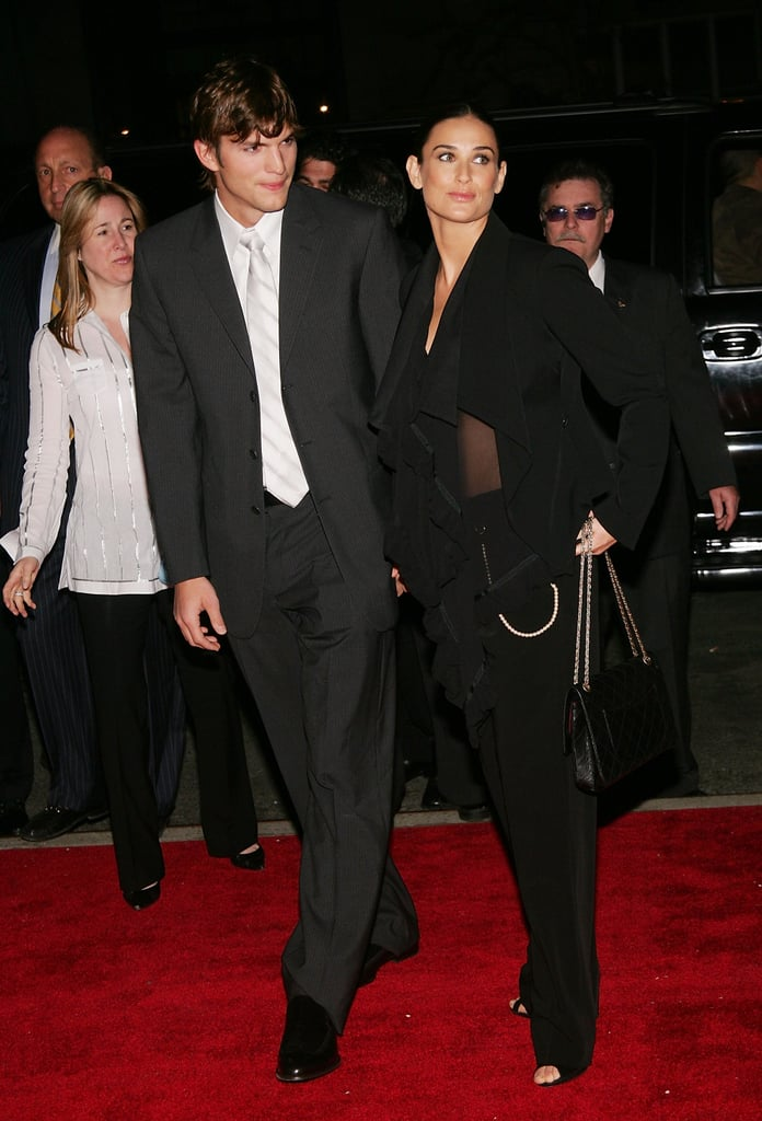 Black and sheer for a film screening in 2005.