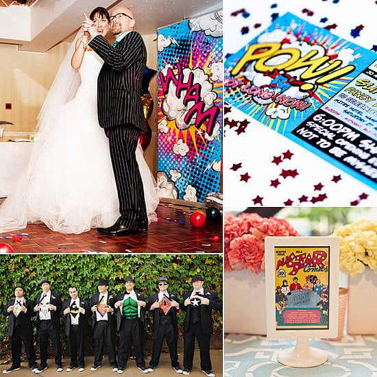 When it comes to fun, playful wedding ideas, a superhero theme is every comic fan's dream come true. ounded up creative ideas to help you channel your favorite characters. From real wedding inspiration to affordable Etsy finds, POPSUGAR Tech has 20 festive ways to channel your favorite superheroes on the big day.
