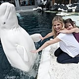 Sarah Michelle Gellar and Charlotte visited SeaWorld in San Diego in July.