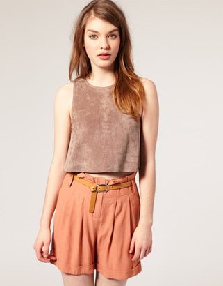 ASOS Suede Crop Top  ($72)