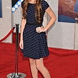 In polka dots and booties at the Secretariat premiere last September.