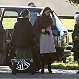 Kate Middleton shared a moment with Queen Elizabeth II on a royal family outing in King's Lynn, England.