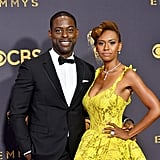 Sterling K. Brown and Ryan Michelle Bathe at 2017 Emmys