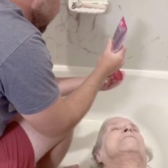 Man Giving Grandma a Haircut at Home: TikTok Video