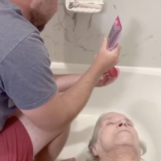 Man Giving Grandma a Haircut at Home: TikTok Video