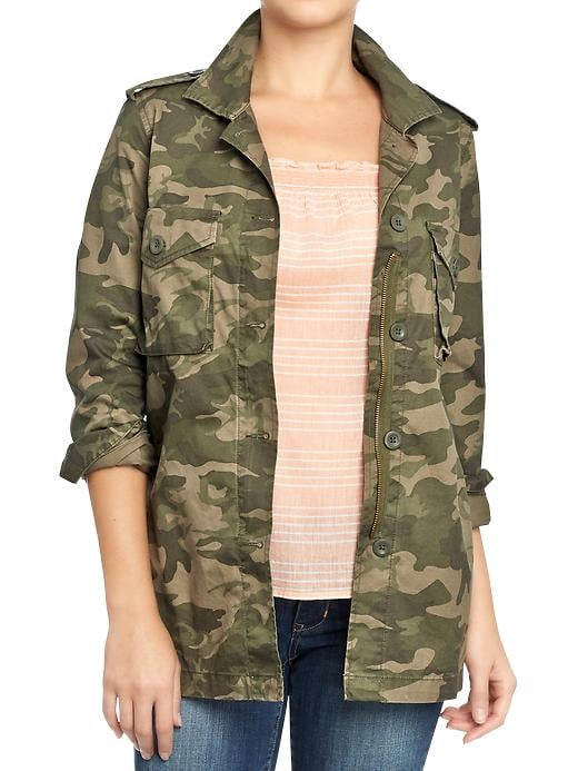 Whether you're a bold print mixer or prefer to add a cool pattern to update your denim and t-shirt routine, we're pretty sure this Old Navy twill military-style shirt jacket ($37) will come in handy.