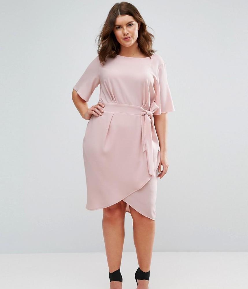Closet Plus Wrap-Front Dress
