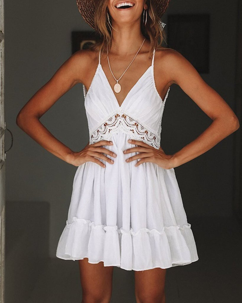 Angielucky Halter Lace Sundress Best Dresses For Small Bust