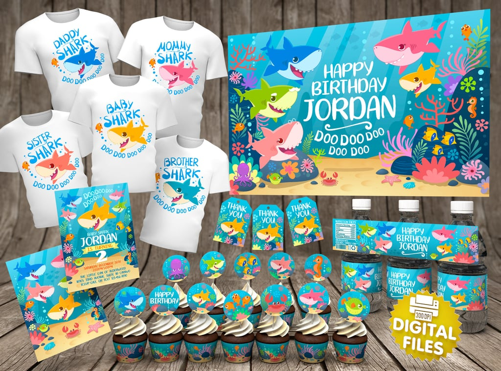 Baby Shark Party Supplies Popsugar Family