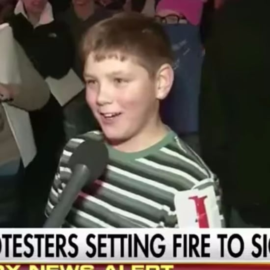 Drew Carey's Son at Anti-Donald Trump Protest Video 2017