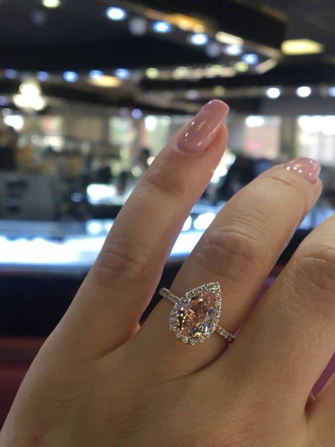 Rose Gold Morganite Ring Engagement Rings on Etsy