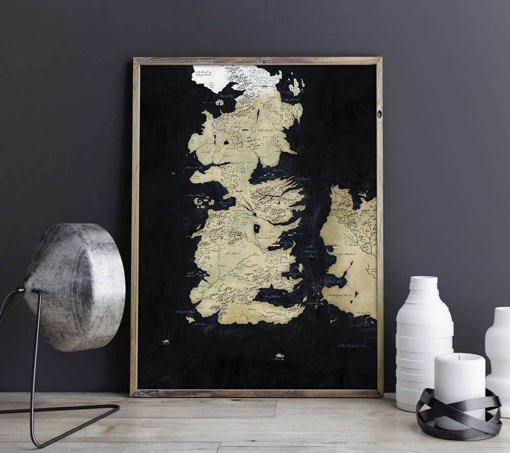 Game of Thrones Seven Kingdoms Map