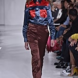 Won't Melania want to invest in the latest iteration of her top? The supersilky version just made its debut on the Spring 2018 runway, and the colorway that's most appropriate and patriotic is red and blue.