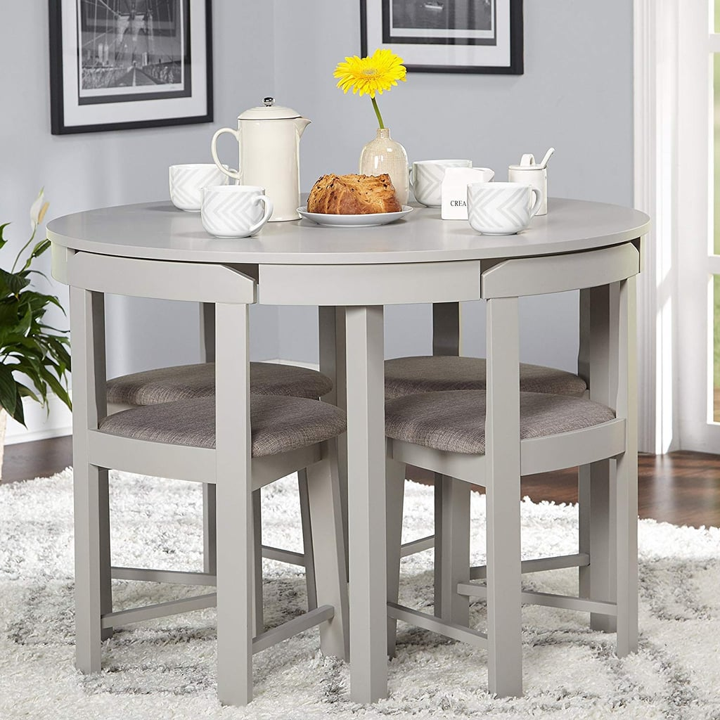 5-piece Compact Round Dining Set