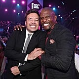 Jimmy Fallon and Terry Crews at the 2019 People's Choice Awards