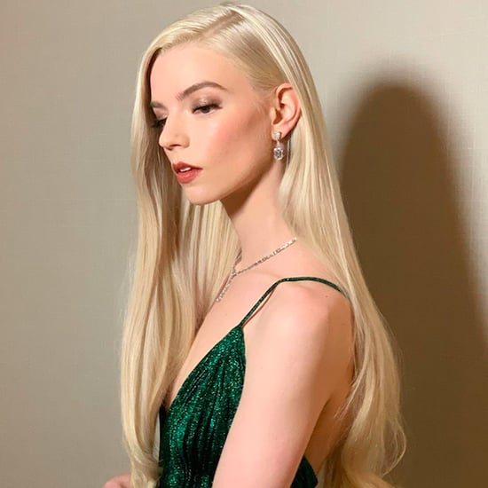 Anya Taylor-Joy Is Team Side Part at the Golden Globes