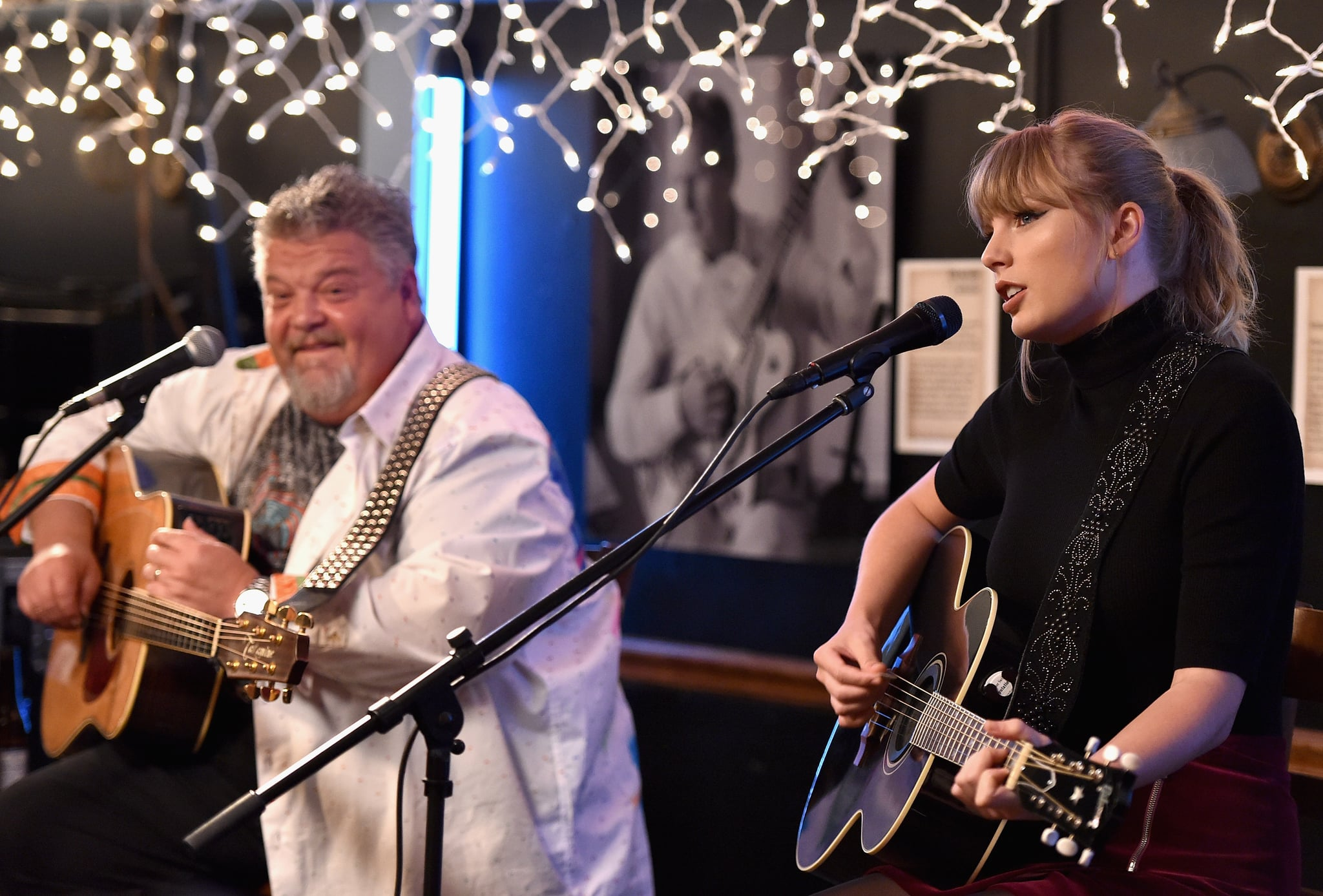 NASHVILLE, TN - MARCH 31: Craig Wiseman and special guest Taylor Swift perform onstage at Bluebird Cafe on March 31, 2018 in Nashville, Tennessee.  (Photo by John Shearer/Getty Images for 13 Management)