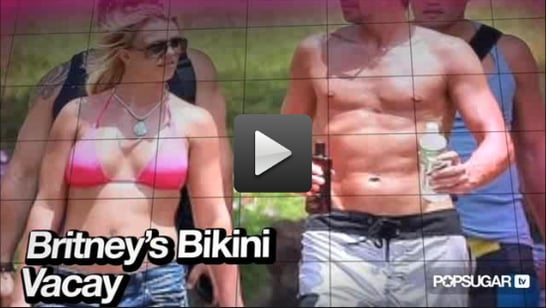 Video of Britney's Bikini Vacation, Ryan Phillippe's Night Out, and Zoe Saldana's Lingerie Tease