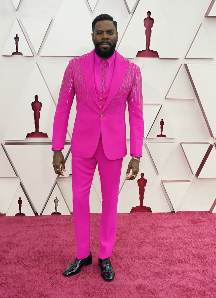 Colman Domingo's Pink Versace Suit at the Oscars 2021