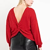 Eloquii Twist Back Sweater