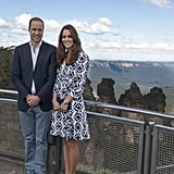 The Duchess Took In the View in Australia in a Bold Printed DVF Dress