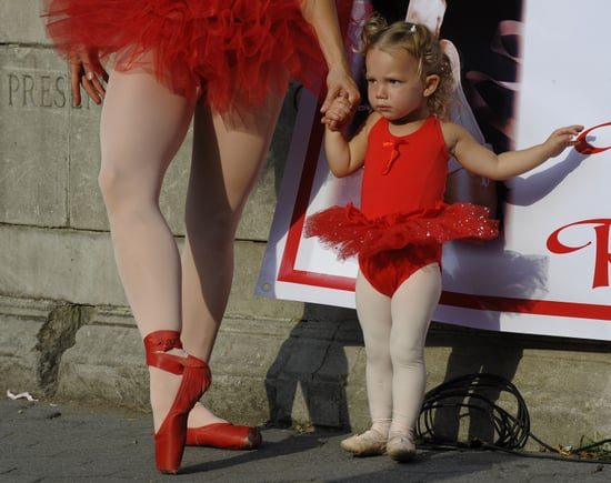 Pictures From Most Ballerinas En Pointe Record in Central Park