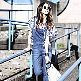 A Ruffled Top and Dungarees