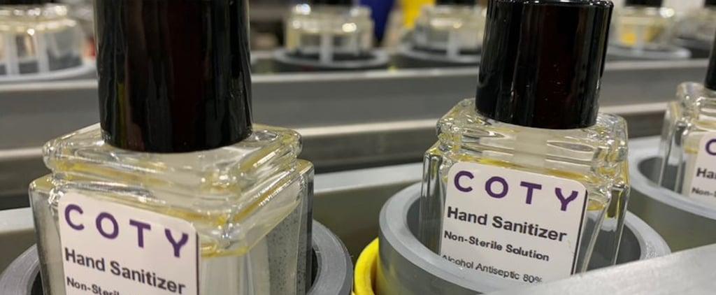 Coty Is Making Hand Sanitizer to Fight Coronavirus