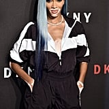 Photos of Winnie Harlow's Blue Hair at New York Fashion Week